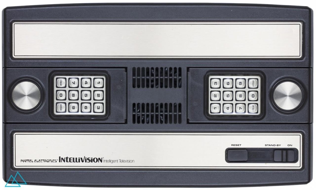 Vintage Video Game Console Mattel Intellivision Top View